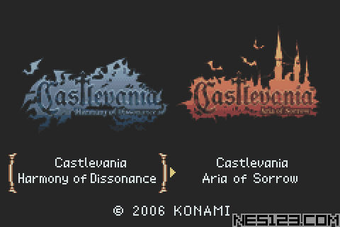 2 Games In 1 - Castlevania - Harmony Of Dissonance + Castlevania - Aria Of Sorrow