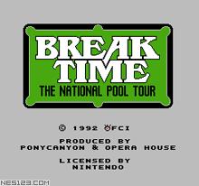 Break Time - The National Pool Tour