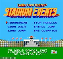 Family Fitness Stadium Events