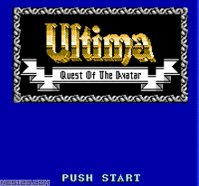 Ultima-Quest Of The Avatar