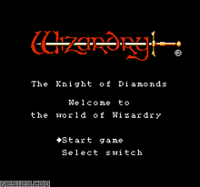 Wizardry III - The Knight of Diamonds