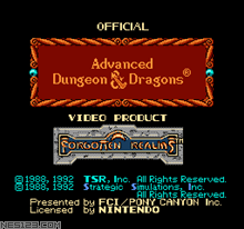 Advanced Dungeons And Dragons-Hillsfar