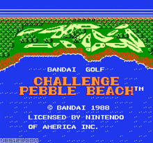 Bandai Golf - Challenge Pebble Beach
