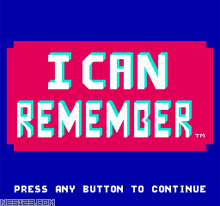 I Can Remember