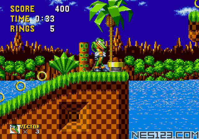 Vector the Crocodile in Sonic the Hedgehog