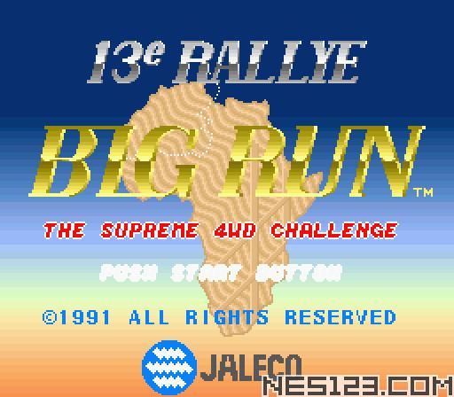 Jaleco Rally - Big Run - The Supreme 4WD Challenge
