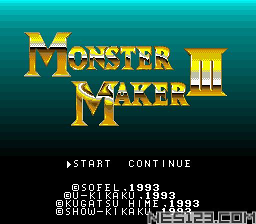 Monster Maker III - Hikari no Majutsushi
