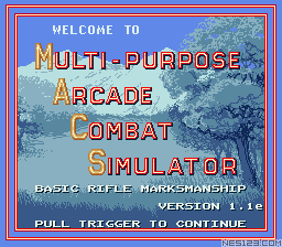 M.A.C.S. Basic Rifle Simulator